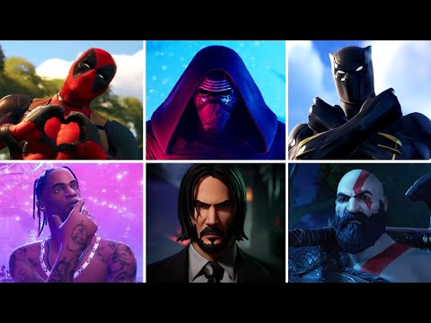 Fortnite All Crossover Trailers and Cutscenes (2017 to 2021) – Marvel, DC, Gaming Legends & More!