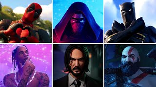 Fortnite All Crossover Trailers and Cutscenes (2017 to 2021) - Marvel, DC, Gaming Legends \u0026 More!