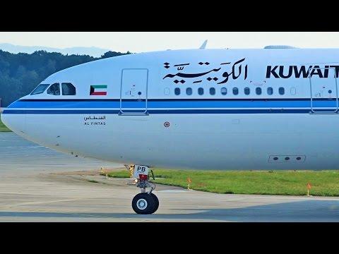 [FullHD] Kuwait Airbus A330-200 takeoff at Geneva/GVA/LSGG