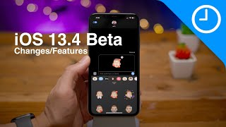 New iOS 13.4 BETA 1 features / changes! - 9 Memoji Stickers, CarKey, iCloud Drive folder sharing!