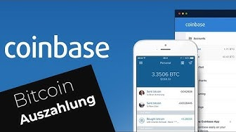Coinbase eine Bitcoin-Auszahlung