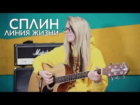 Сплин видеоурок на гитаре линия жизни