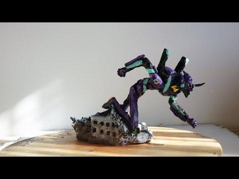 Making of Neon Genesis Evangelion Unit-01 figurine + pictures