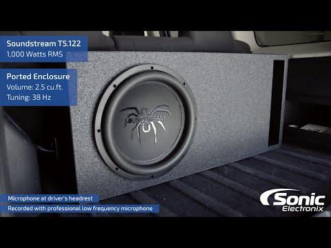 SoundStream T5.122 Car Subwoofer | Bass Demo