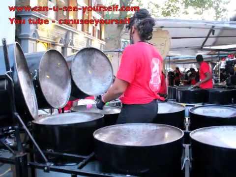 Notting Hill Carnival 2014 (Panorama) Ebony Steel Pan Band - Calypso (Trinidad & Tobago Music)