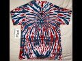 Red White & Blue Tie Dye Spiral and Spider