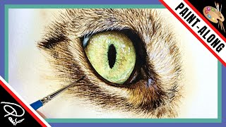 HOW TO Paint a Realistic Cat's Eye in Watercolour  Paint with Me