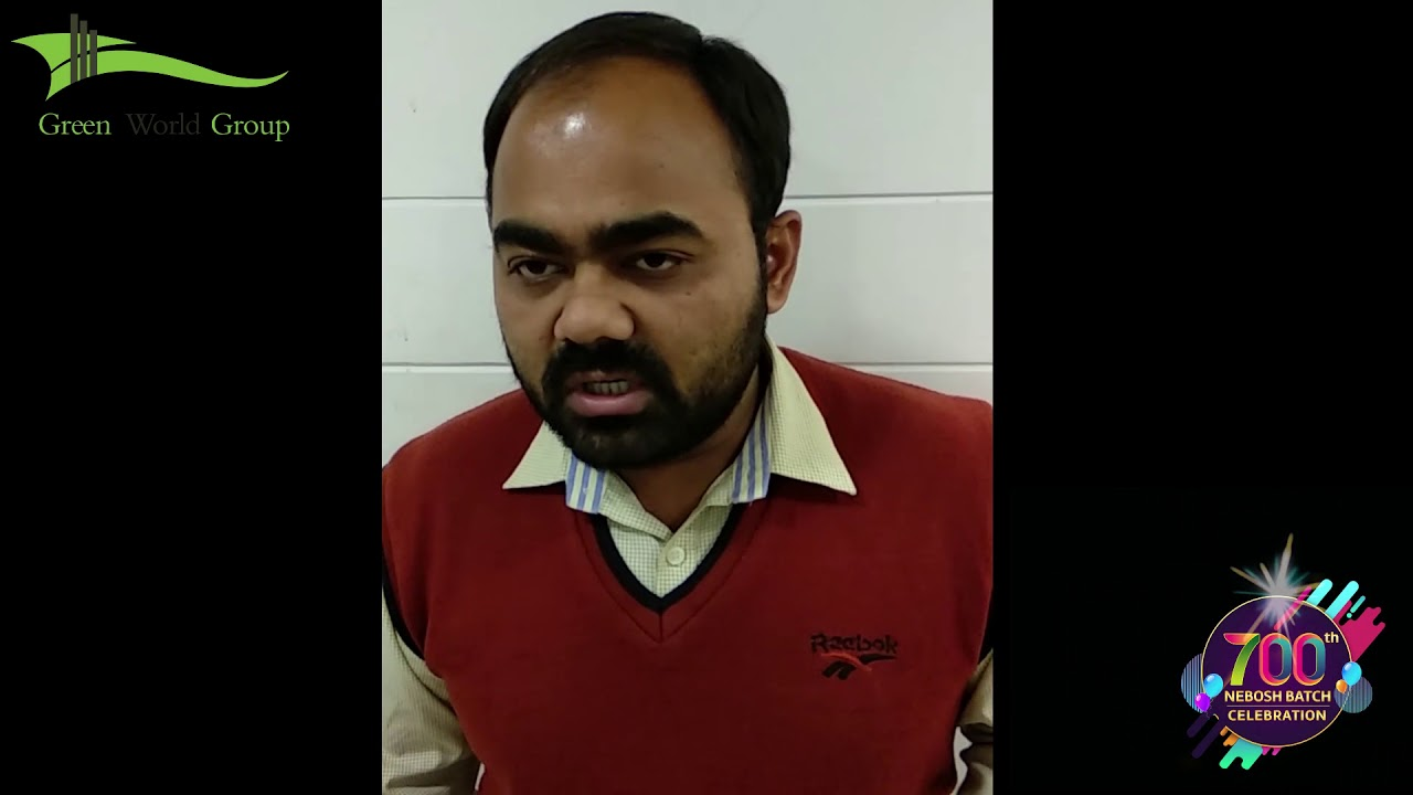 Nebosh Igc Training In Ahmedabad Testimonials By Mr Subhash Joshi