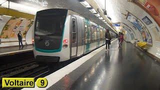 Métro de Paris : Voltaire | Ligne 9 ( RATP MF01 )