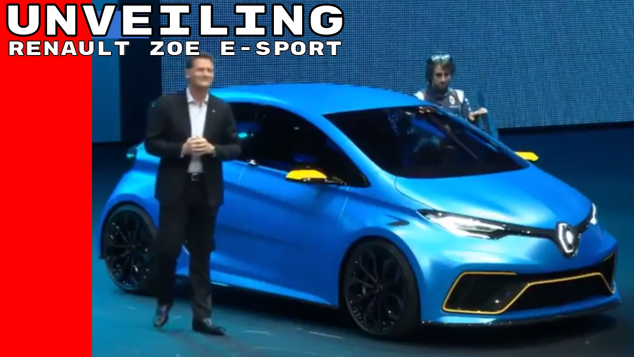 renault zoe e sport concept unveiling youtube. Black Bedroom Furniture Sets. Home Design Ideas