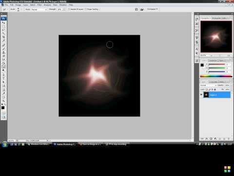 how to add a nice sunray effect using photoshop