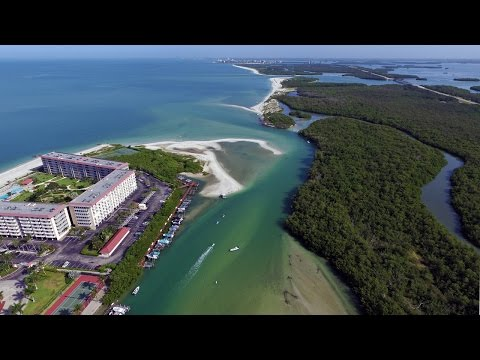 Aerial Footage Of Big Hickory Pass In Bonita Springs, FL