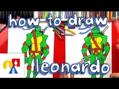 How To Draw Leonardo Teenage Mutant Ninja Turtles