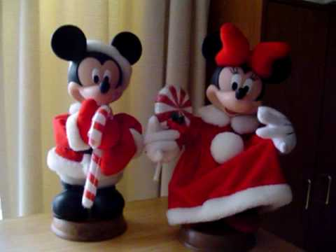 Disney Mickey & Minnie Mouse Animated Christmas Figures - YouTube