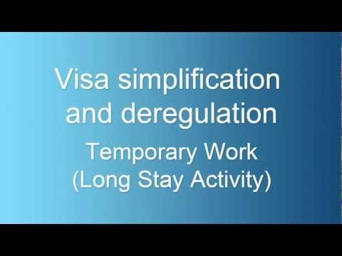 Temporary Work (Long Stay Activity) visa changes