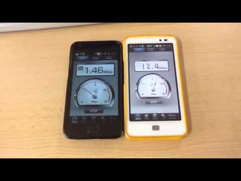 Handset SPEED TEST CDMA EV-DO Rev.B vs U+LTE in Daegu, ROK