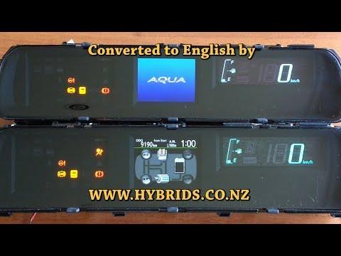 Toyota Aqua Instrument Cluster - Japanese To English Conversion