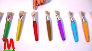 Learn Colors With Brushes And Max Learn 10 Basic Colors Fun Educational Video For Kids Babies