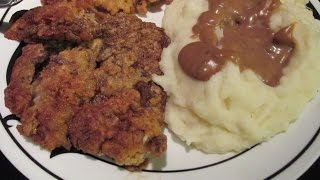 Chicken Battered Fried Steaks Cajun Style