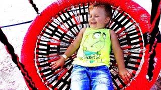 ★ СУПЕРСКАЯ НОВАЯ Детская Площадка Family Park Рома Играет на площадке Kids Playground Fun Play
