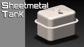 SOLIDWORKS TUTORIAL - 11_ Sheet-metal tank