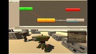 201.08 Уроки в Unity. Animator Controller для анимации робота
