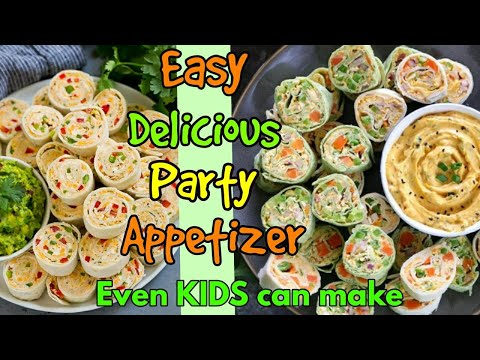 Cream Cheese Tortilla Rolls-Ups Roti Spring Rolls Party Pinwheels Vegetarian Appetizer Recipe video