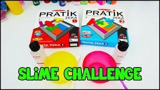 İyi Malzeme Kötü Malzeme Slime Challenge - Pratik Zeka Oyunu Oynadık - Vak Vak TV