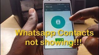 Whatsapp Contacts not showing up fix