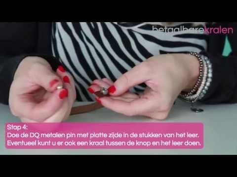 Sieraden maken: Hoe maak je een armband met DQ metalen pin met een platte zijde? ♡ DIY