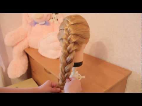 Плетение Русской косы (колосок). Ежедневная причёска