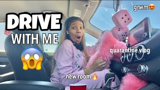 A Day In My Life (quarantine vlog) Drive With Me! | Megalook Hair