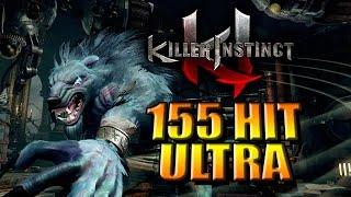 NEW Ultra Record 155 Hits w/Sabrewulf - 1440P HD (Killer Instinct Season 2)
