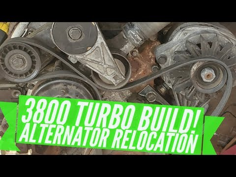 FABRICATING 3800 TURBO ALTERNATOR RELOCATION BRACKET! FIERO 3800 TURBO F23 SWAP!