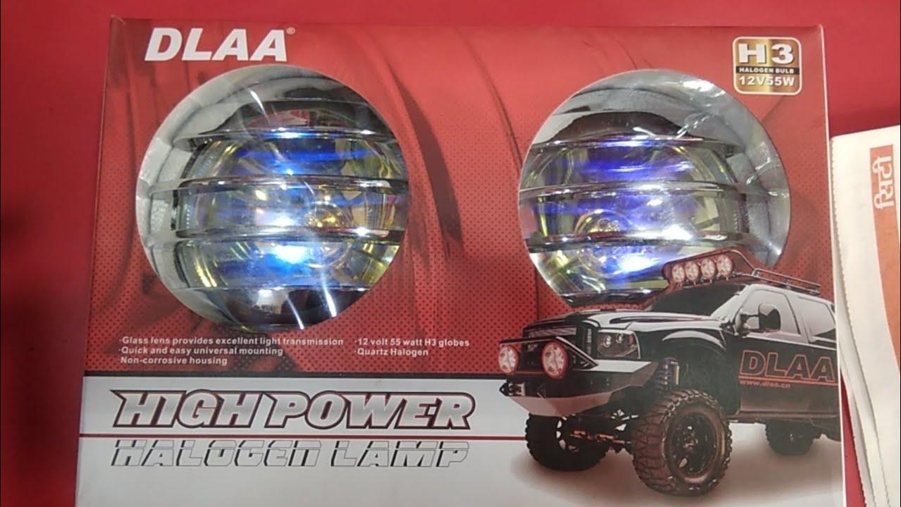 Dlaa Halogen Lamp For Cars High Power Fog Lamp Unboxing Youtube