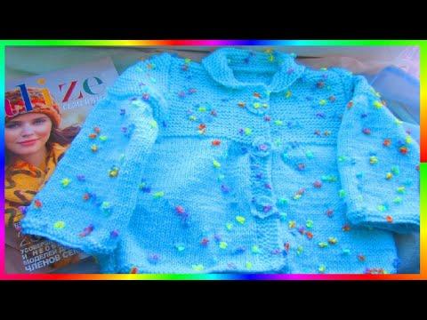 Вязание спицами Детские вещи Кофточка для девочки