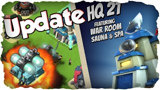 NEUES UPDATE - HQ 21 in 15 Minuten! | BOOM BEACH | Schildgenerator Test! (Deutsch / German)
