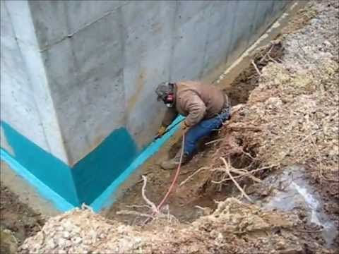 Rub R Wall Spray On Foundation Waterproofing Application