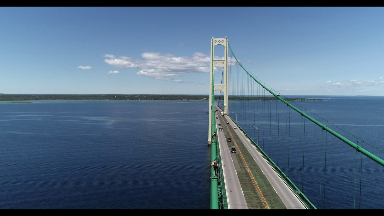Preview Image for Mackinac Bridge drone footage