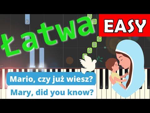 🎹 Mario, czy już wiesz? (Mary did you know?) - Piano Tutorial (łatwa wersja) (EASY) 🎹
