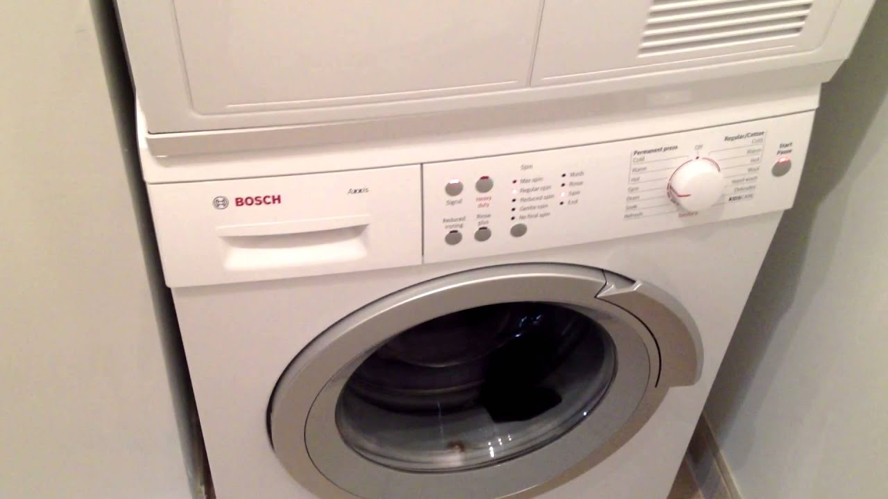 Miele stackable washer dryer ventless - Bosh Axxis Washer Machine Insane Brutal Spinning Sounds Like A Jet Plane Youtube