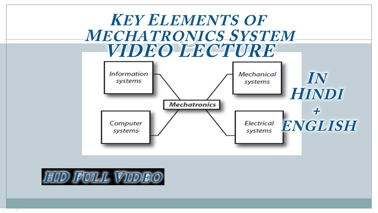 1 1key Elements Of Mechatronics Video Lecture In Hindi