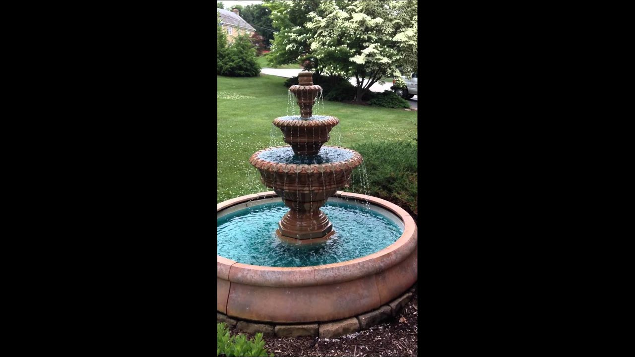 Concrete Water Fountain Pools : Tier concrete fountain youtube