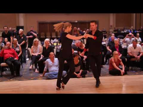 West Coast Swing | Mike Bomgren + Charlotte Zell | Advanced Strictly Swing - Desert City Swing 2019