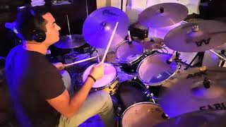 Black keys - Gold on a ceiling drum cover