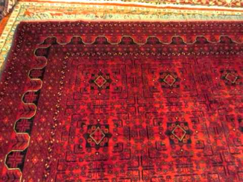 8 X 11 Afghan Rug Woven By Turkoman Weavers In Afghanistan