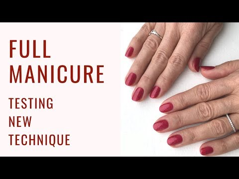 """Bio Sculpture soak off removal, Bio base and CND Shellac """"RUBY RITZ""""- IN REAL TIME"""