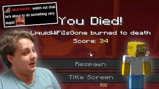I tried to speedrun minecraft... | LiquidWiFi Stream Highlights