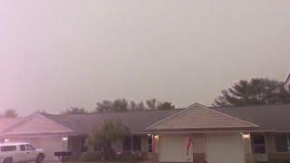 Lightning strikes house in milan