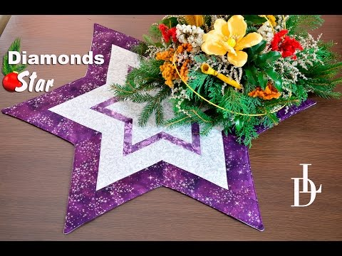 Patchwork Diamonds Star - Vánoční ubrus